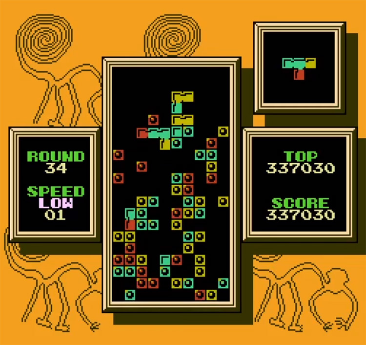 Tetris 2 on NES - Screenshot