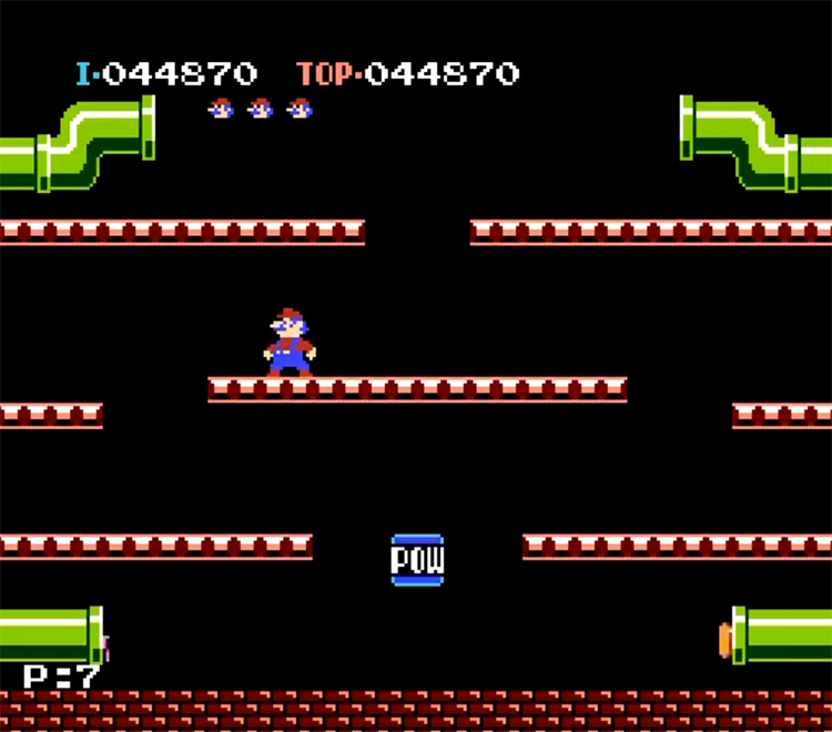 Mario Bros (original) - NES Screenshot