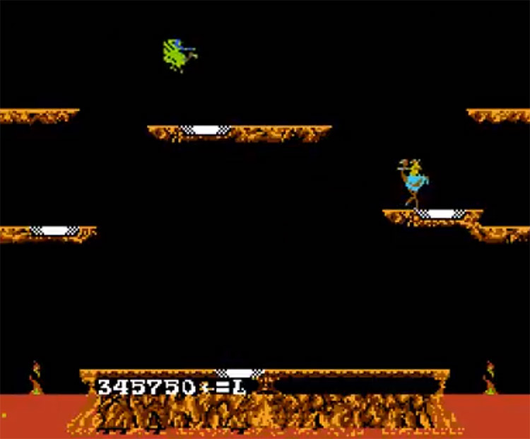 Joust NES gameplay screenshot