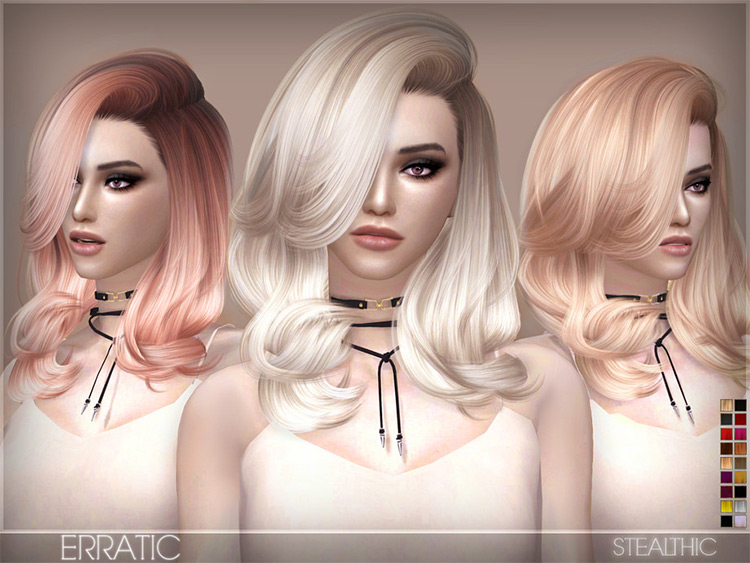 Erratic Hair - Custom Content Hairdo for Sims 4