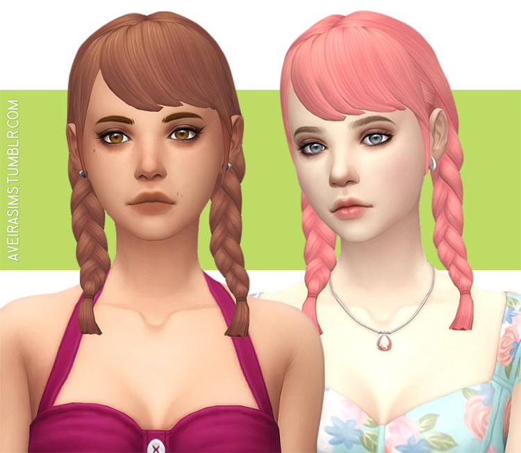 Clay Hair Retextures - Sims 4 CC
