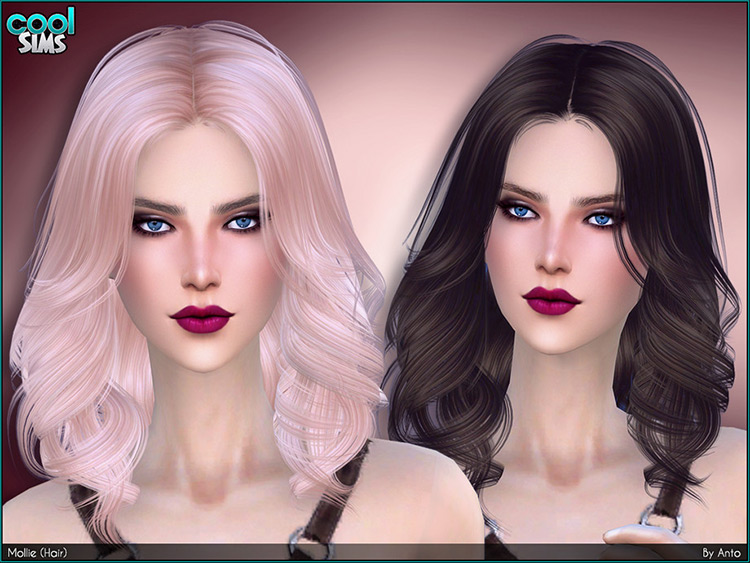 Mollie Hair - Sims 4 CC