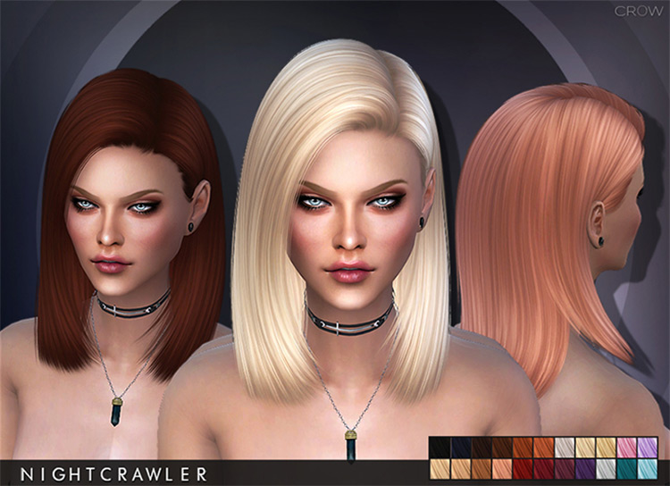 Sims 4 Cc Best Mid Length Hair For Girls All Free To Download Fandomspot