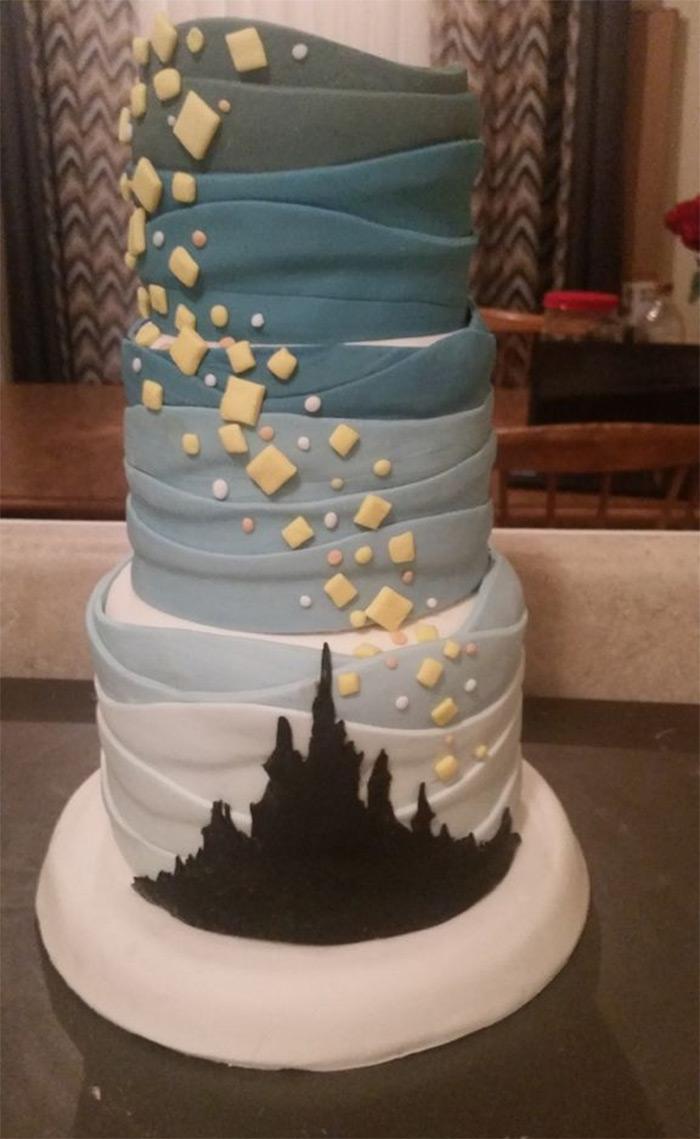 diy tangled cakes recipe