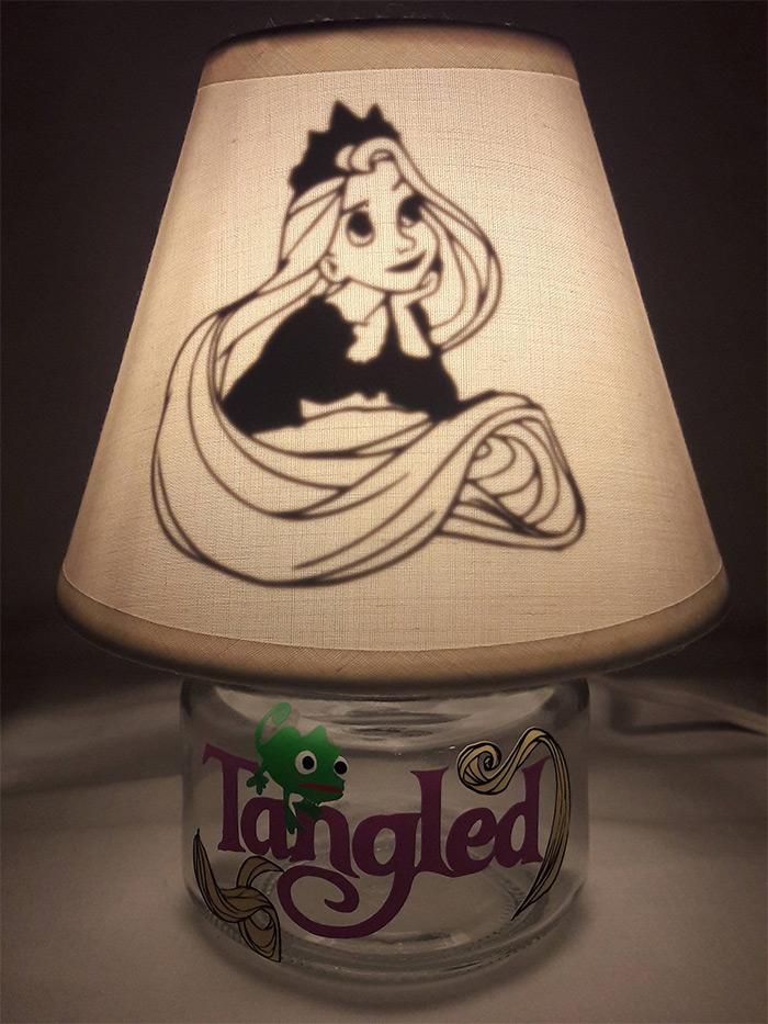 diy mini mason jar lamp