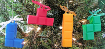 Tetris christmas tree ornaments