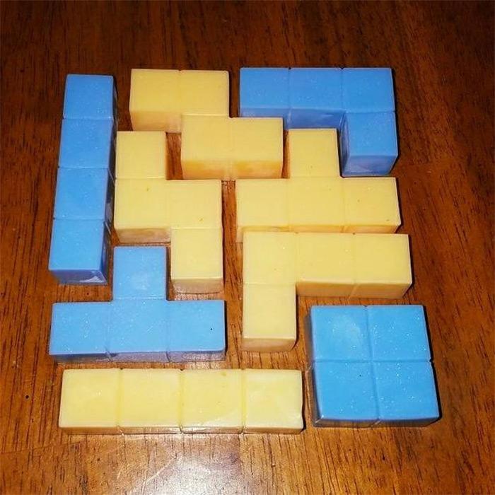 handmade tetris soaps