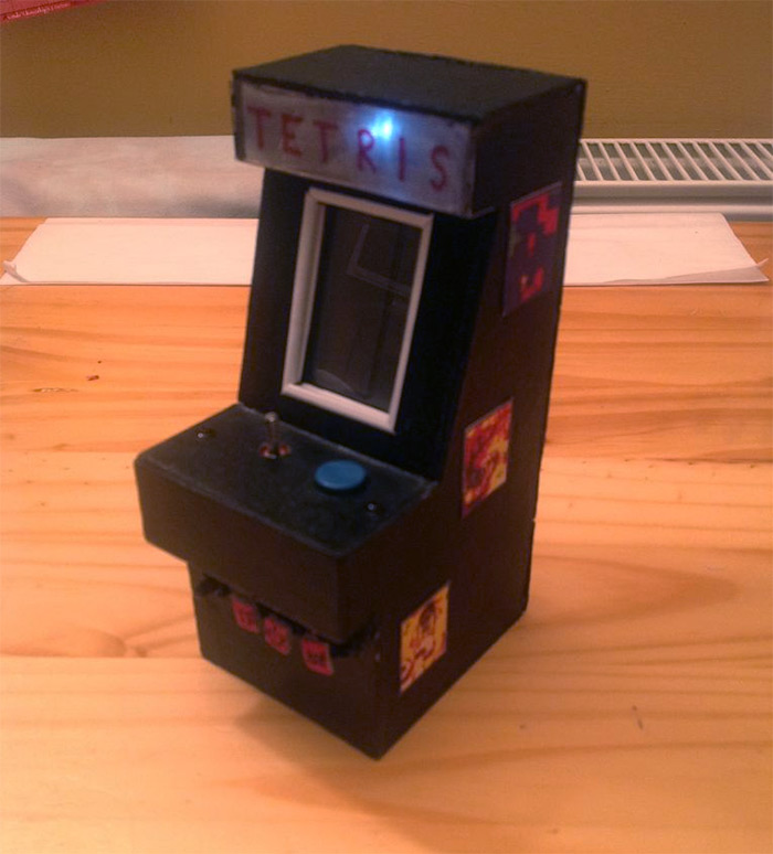 mini tetris arcade diy