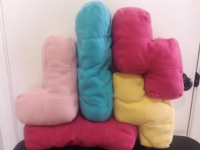 tetris pillow diys
