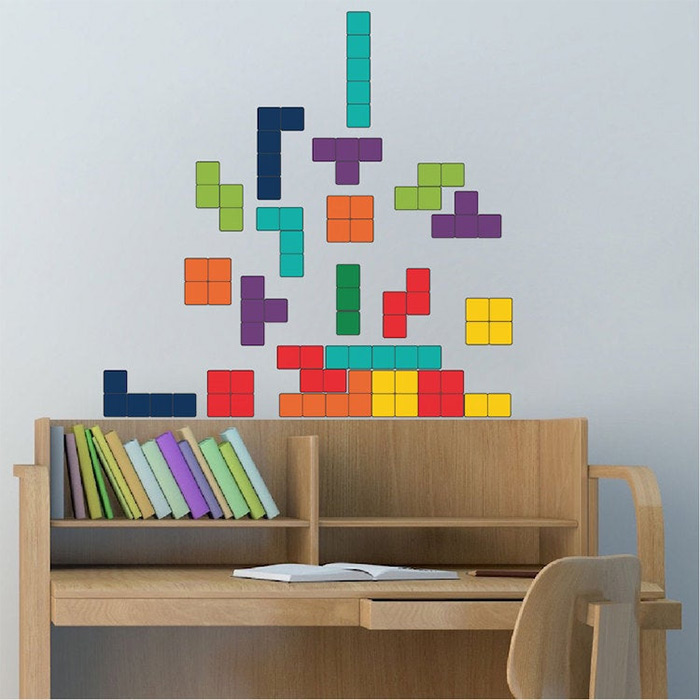 kids wall tetris decal
