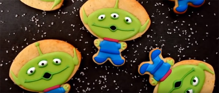 Toy Story alien cookies