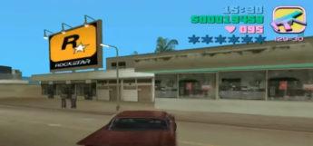 Rockstar billboard in Grand Theft Auto Vice City