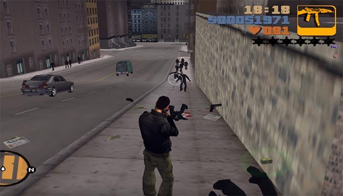 GTA3 ak 47 gun