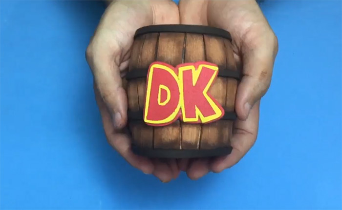 Handmade Donkey Kong DK barrel
