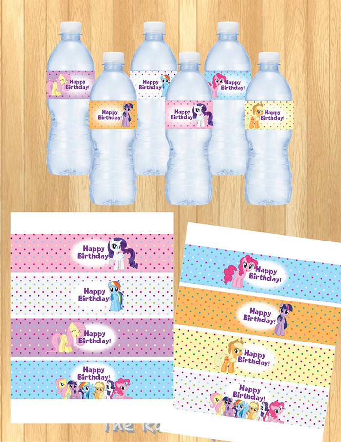 diy mlp bottle label printable
