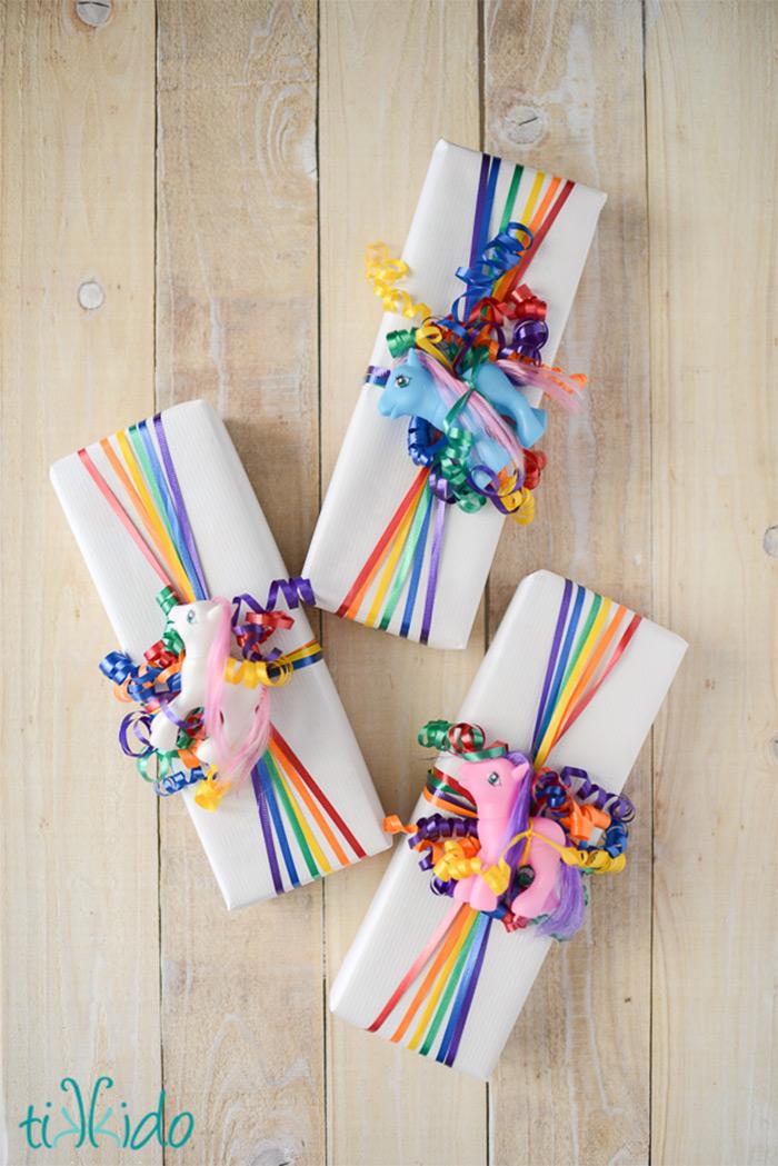 rainbow gift wrap