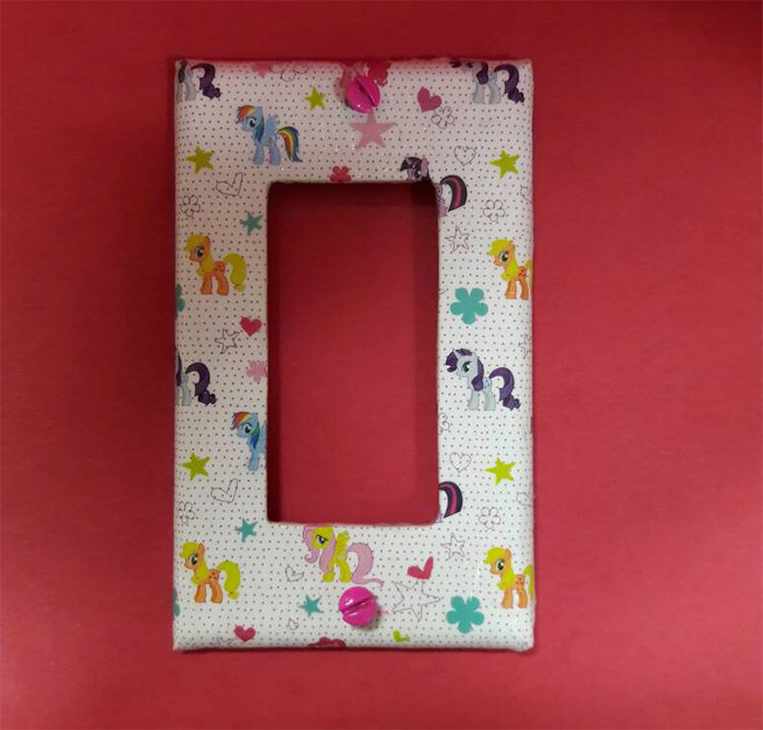 diy mlp lightswitch cover