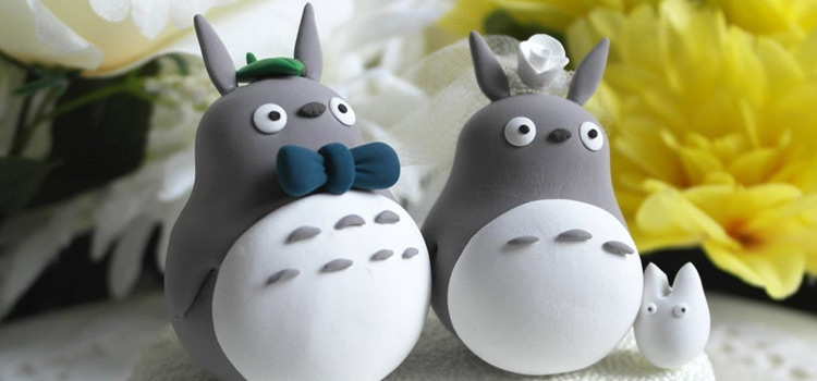 Totoro wedding cake toppers