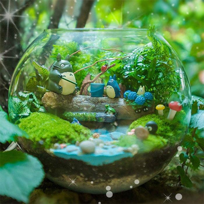 diy studio ghinli fairy garden