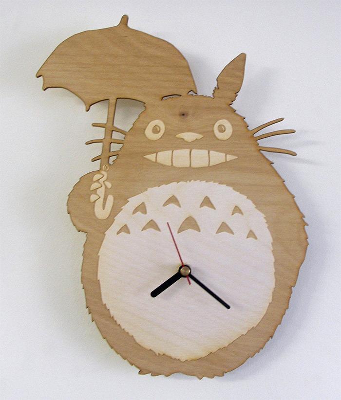 Totoro wooden clock diy