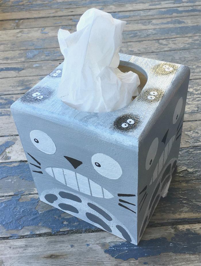 totoro handpainted tissue box cover