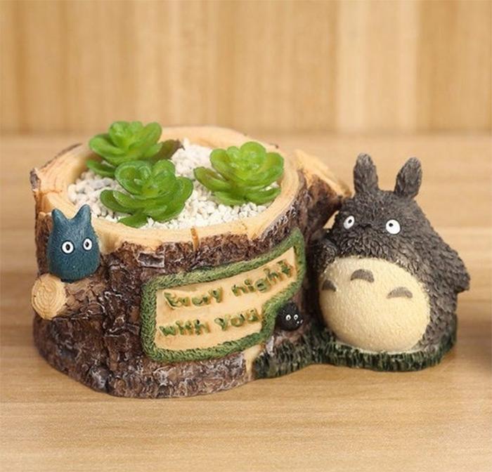 Mini Totoro planter