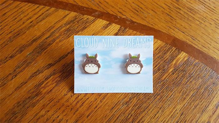Totoro handmade earrings