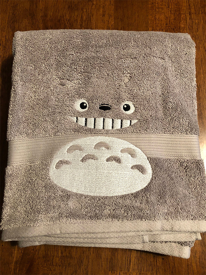 Totoro towel diy