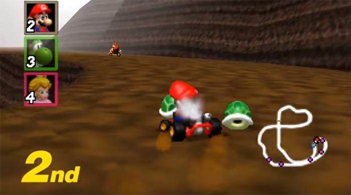 Mario in mariokart 64