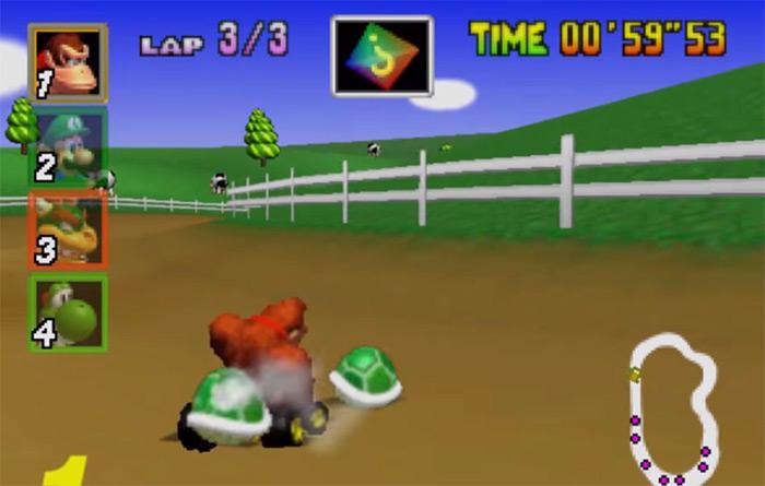 Donkey Kong in Mario Kart 64