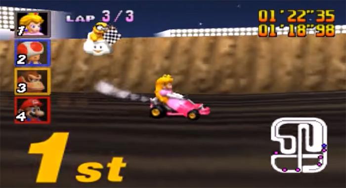Peach in Mario Kart 64