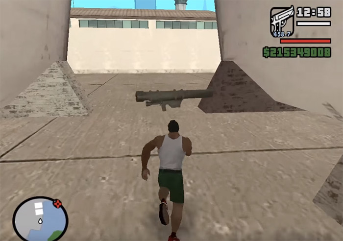 Rocket launcher in San Andreas