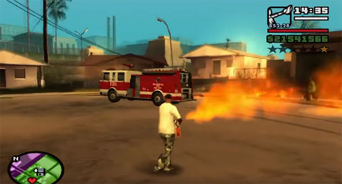 Flamethrower weapon San Andreas