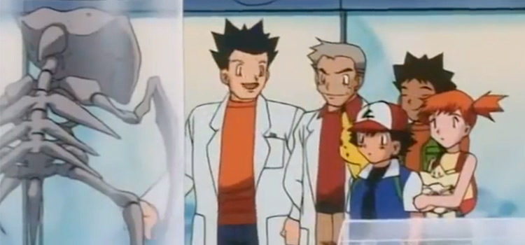 Fossil Pokemon ranked - Fossil lab in the anime