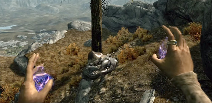 Casting Invisibility spell in Skyrim