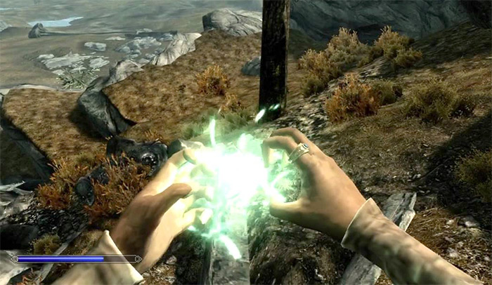 Casting Rally spell in Skyrim
