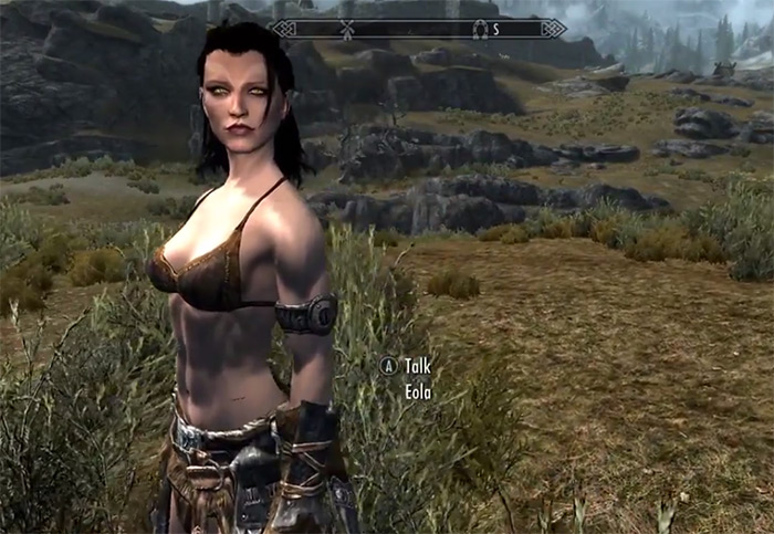 Eola Skyrim follower
