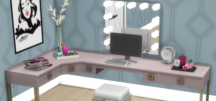Vanity Table Set CC for The Sims 4
