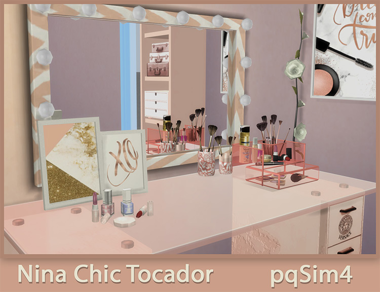 Nina Chic Dressing Table for Sims 4