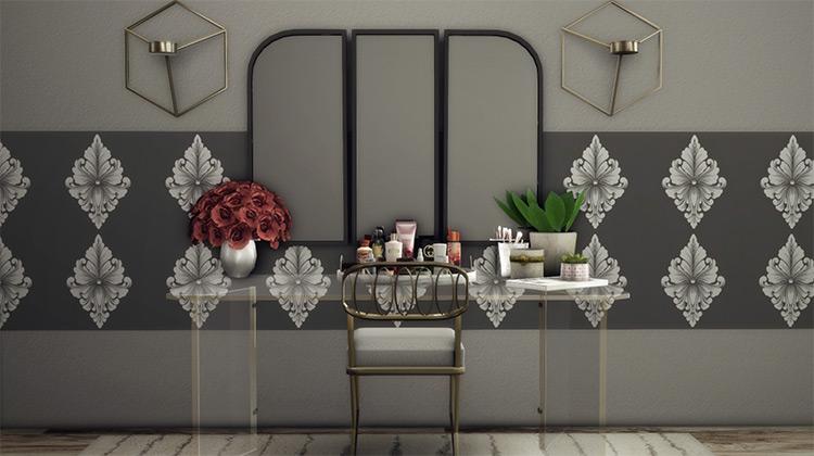 Glass Sheek Vanity Set for Sims 4