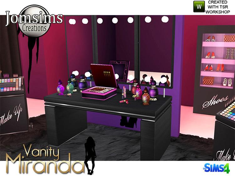 Miranda Vanity Beauty Set Sims 4 CC
