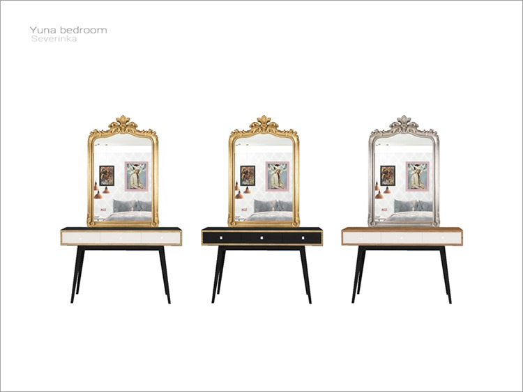 Yuna Bedroom Vanity Table for Sims 4
