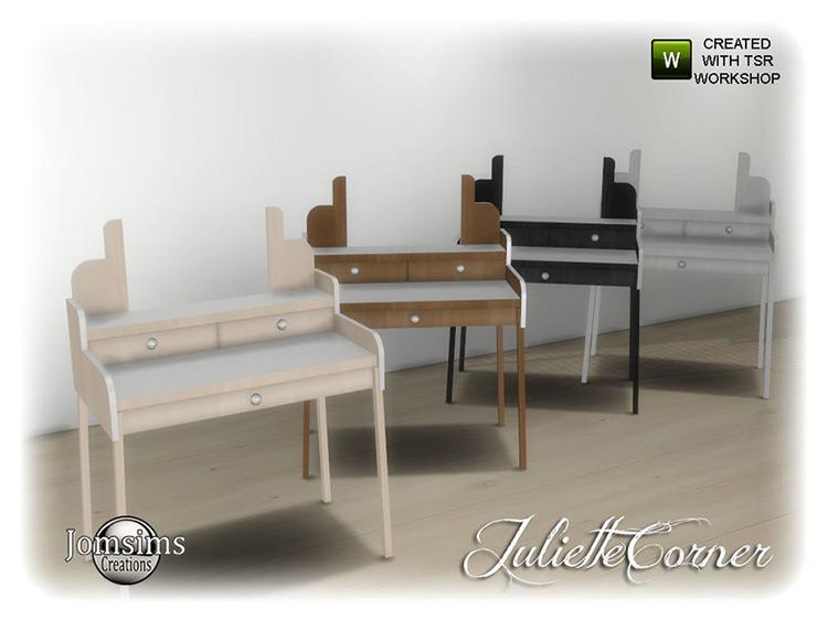 Juliette Corner Vanity Table TS4 CC