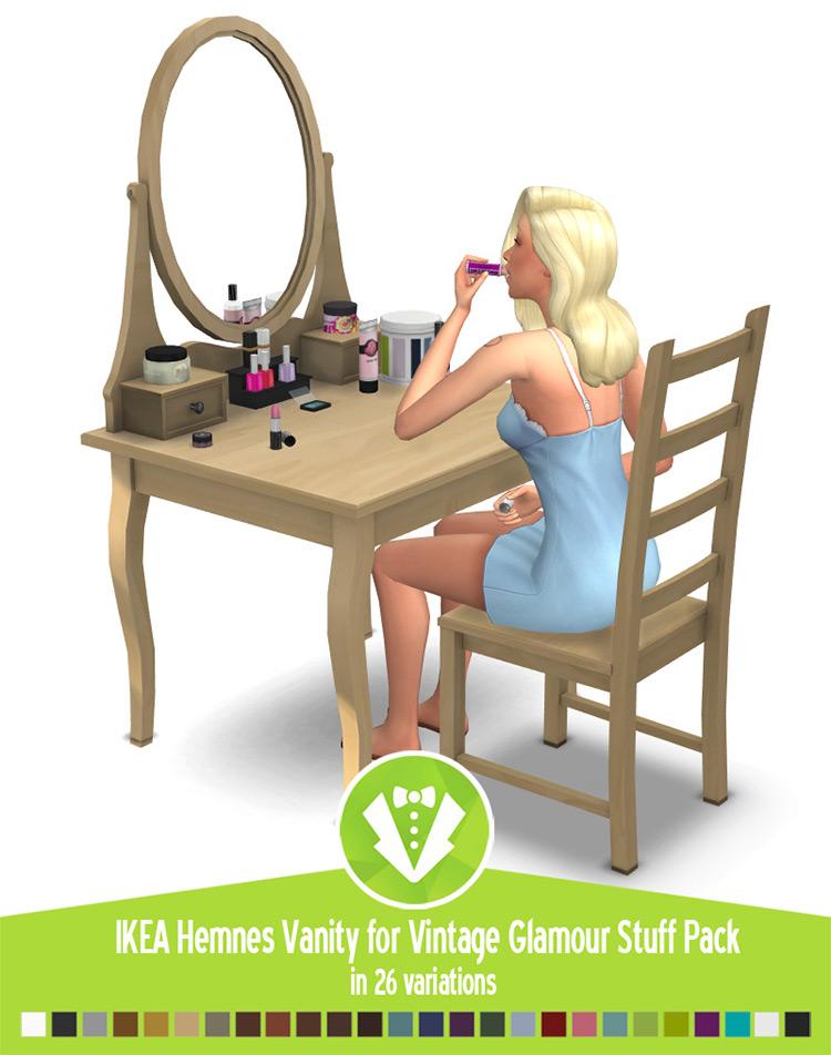IKEA Hemnes Vanity Sims 4 CC