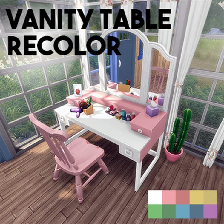 Vanity Table Recolor Sims 4 CC