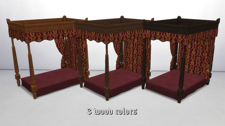 Medieval Queen Bed Sims 4 CC