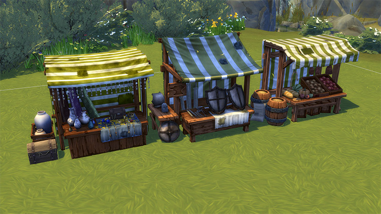 Medieval Market Stuff Pack for Sims 4