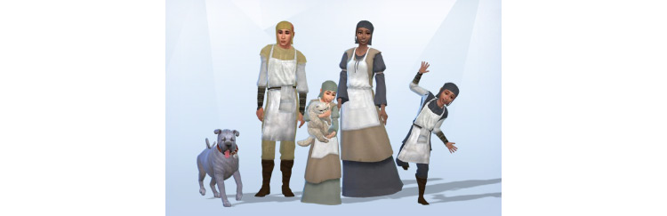 Medieval Cook Outfits for Sims 4