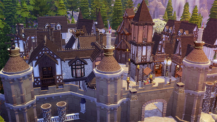 Fantasy Medieval Castle for Sims 4