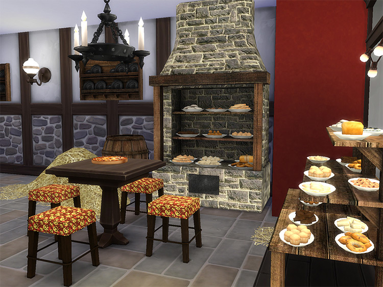 Medieval Bakery Sims 4 CC